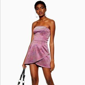 Purple Strapless Sparkle Dress